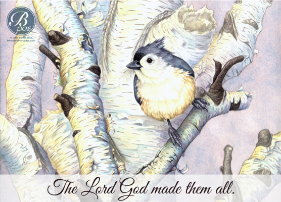 """The Lord God made them all."""