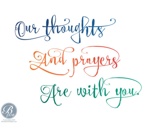 Our Thoughts and Prayers Are with You Card